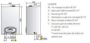 Centrala termica ARISTON CLAS B PREMIUM 24FF in condensare de 24kW si boiler incorporat de 40l