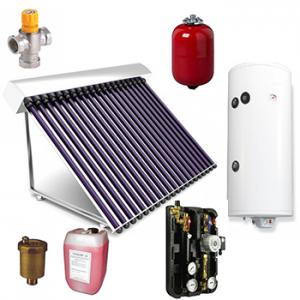 Panou solar cu boiler de 150 l cu 15 tuburi solare vidate