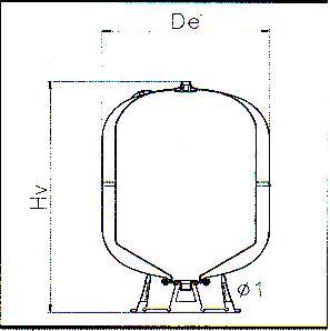 Vas de expansiune pentru hidrofor AFV 100l ELBI