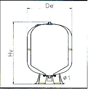 Vas de expansiune pentru hidrofor AFV 200l ELBI