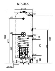 Boiler Hajdu STA200C din otel emailat de 200l cu o serpentina
