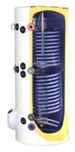 Boiler ELDOM 150 2S termoelectric din otel portelanat de 150l cu doua serpentine si rezistenta electrica