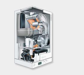 Centrala termica VIESSMANN VITODENS 100-W in condensare 35kW si preparare apa calda