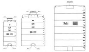 Rezervor apa CV 1500l