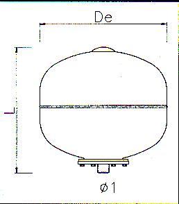 Vas de expansiune pentru hidrofor 35l ELBI