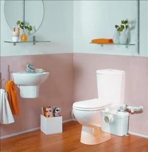 Sistem de tocare si pompare pentru WC si o chiuveta - SANITOP Silence