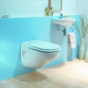 WC montat pe perete cu sistem integrat de tocare-pompare
