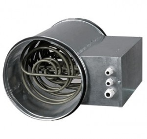 Baterie de incalzire electrica rotunda Vents NK 125-0,8-1