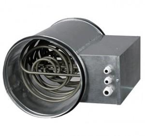 Baterie de incalzire electrica rotunda Vents NK 125-2,4-1